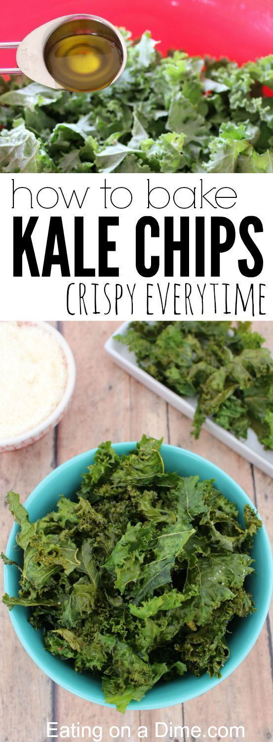 PERFECTLY CRISPY, OVEN BAKED KALE CHIPS RECIPE