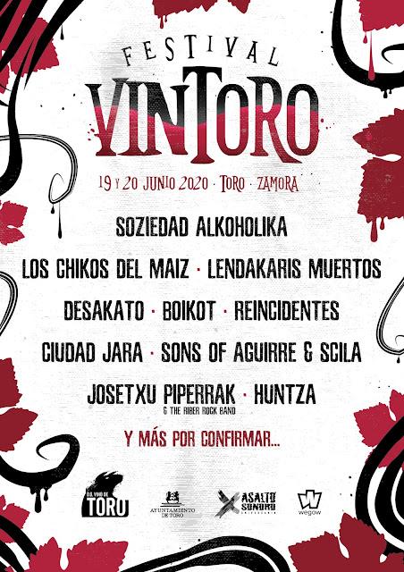 Agenda de giras, conciertos y festivales Vintoro