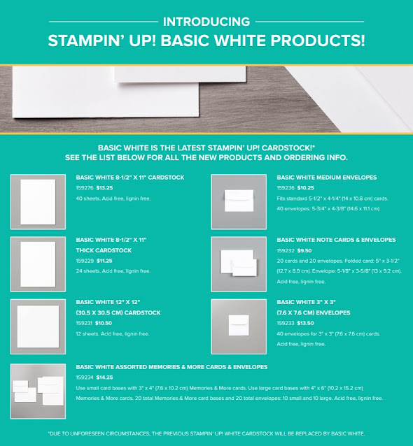 basic white cardstock
