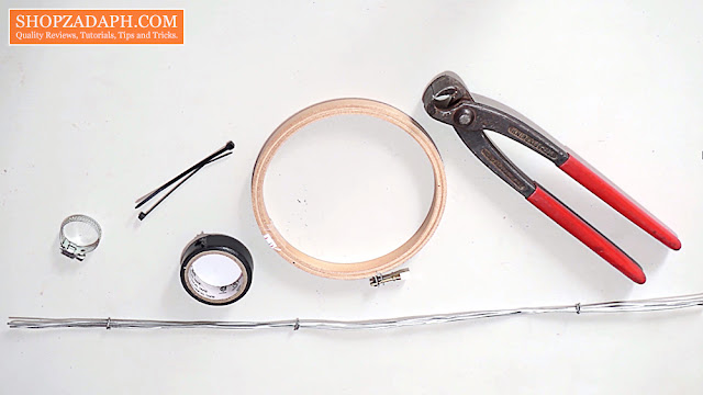how to make a pop filter with household items