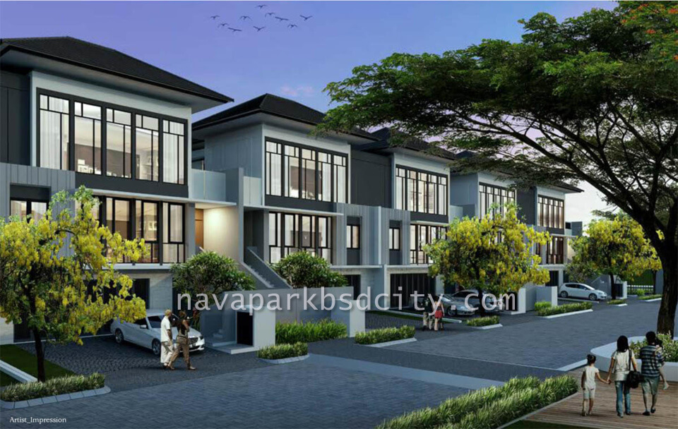 Rumah Lakewood NavaPark BSD Tipe 12