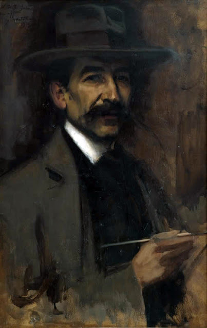 Luis Graner y Arrufi, Portrait of Painters, Self Portrait