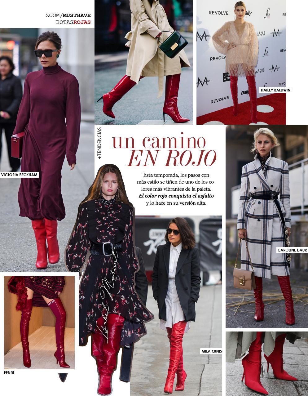 Las botas rojas (y altas) son el nuevo objeto de deseo