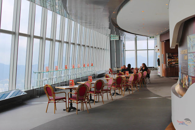 Cafe in Sky100 of Hong Kong
