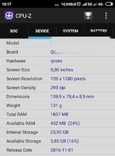 Cek ram dan memori hp dengan aplikasi