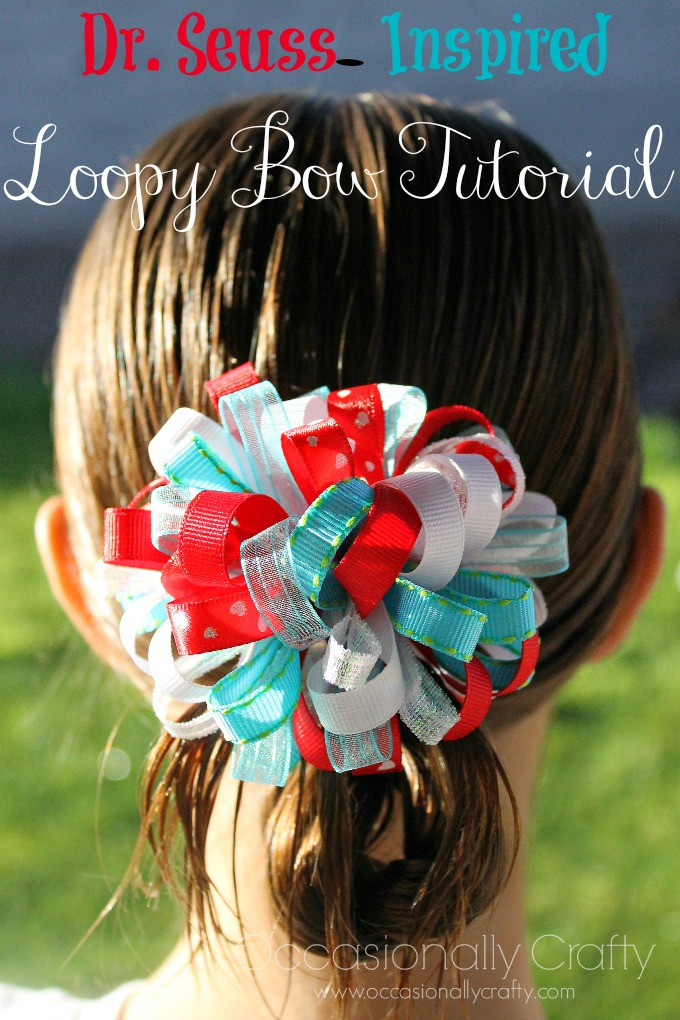 Dr. Seuss Inspired Loopy Bow Tutorial