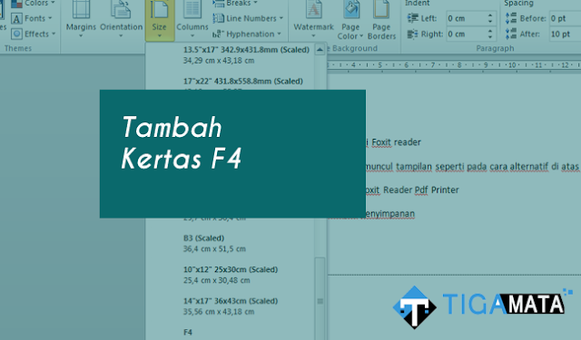 Cara Menambah Ukuran Kertas F4 (21,5cm x 33 cm) di Windows (PERMANEN)