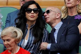 Jeff Bezos and Lauren Sanchez at Wimbledon Final