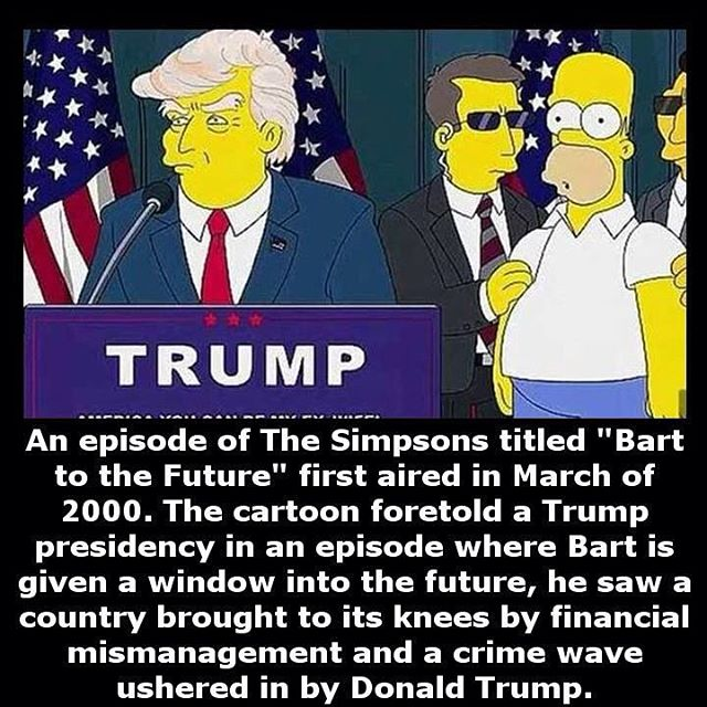 The Conspiracy Zone IS DONALD TRUMP BEING SET UP FOR A STAGED - Simpsons predictions trump us map