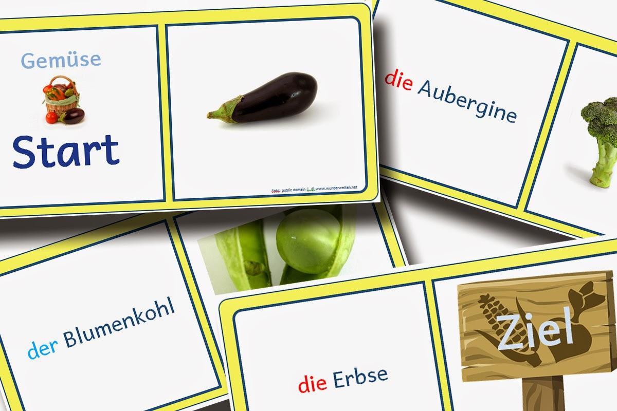Grundschulmaterial Wunderwelten Daz Material Gemüse Bild Wort