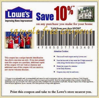 photograph regarding Printable Lowes Coupon named Free of charge printable coupon codes for lowes household enhancement / Amazon