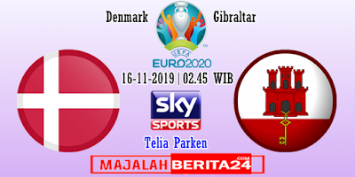 Prediksi Denmark vs Gibraltar — 16 November 2019