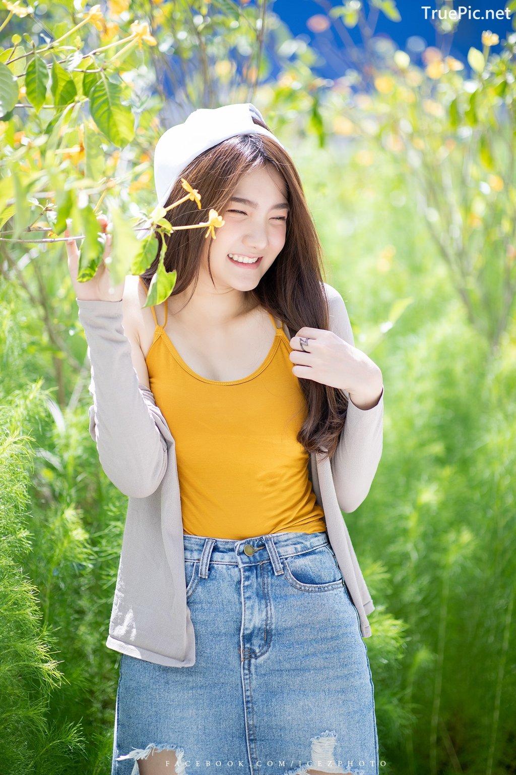 Image-Thailand-Cute-Model-Creammy-Chanama-Beautiful-Angel-In-Flower-Garden-TruePic.net- Picture-7