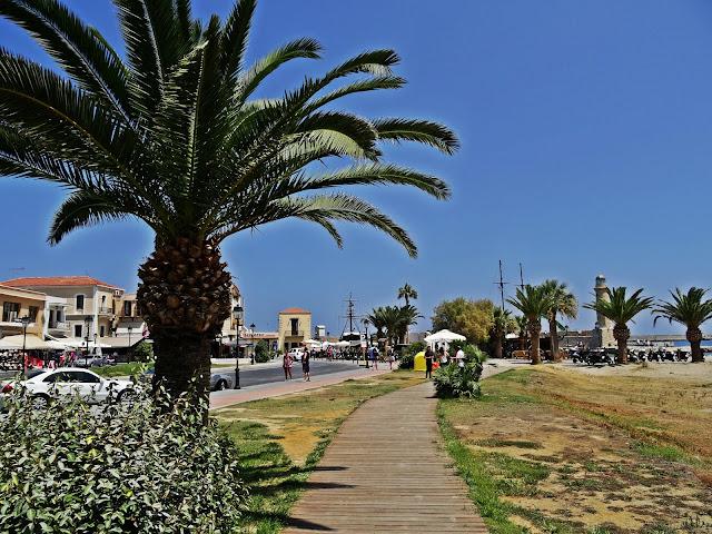 promenada wzdłuż morza Rethymno na Krecie
