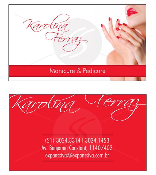 M2399 cartoes de visita manicure - Cartões de Visita para Manicure e Pedicure
