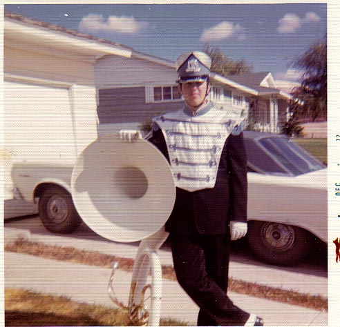 "BJ in late 1972 WHS ""Band Geek""! ;)"