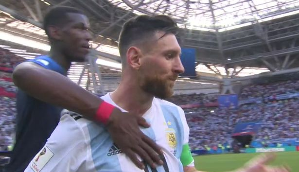 News In Pictures: Fans loved what Paul Pogba did to Lionel Messi after France beat Argentina in the last-16 of the World Cup