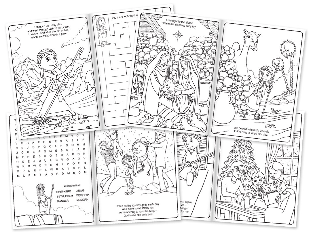 favored reviews shepherd on the search advent activity set book