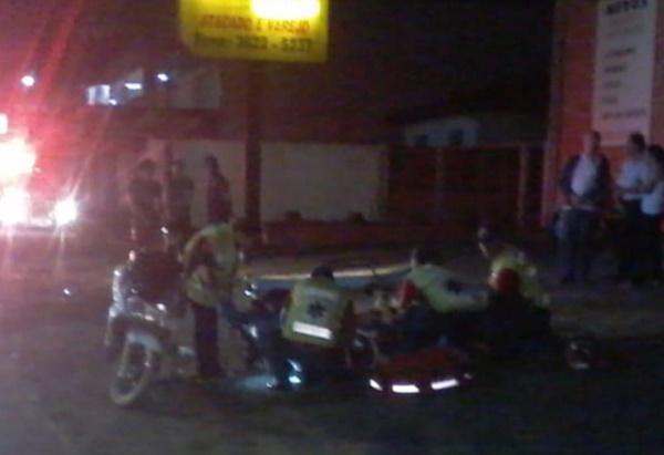 Acidente com motos na rua Getúlio Vargas em Canoinhas