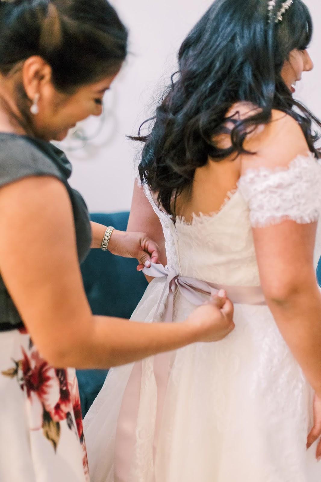 las vegas bride, latina, wedding dress