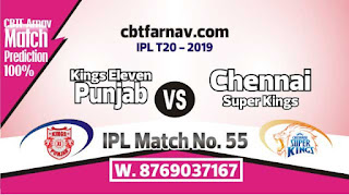 KXIP vs CSK IPL Bhavishyavani 2019 55th Match Prediction Today Who Will Win