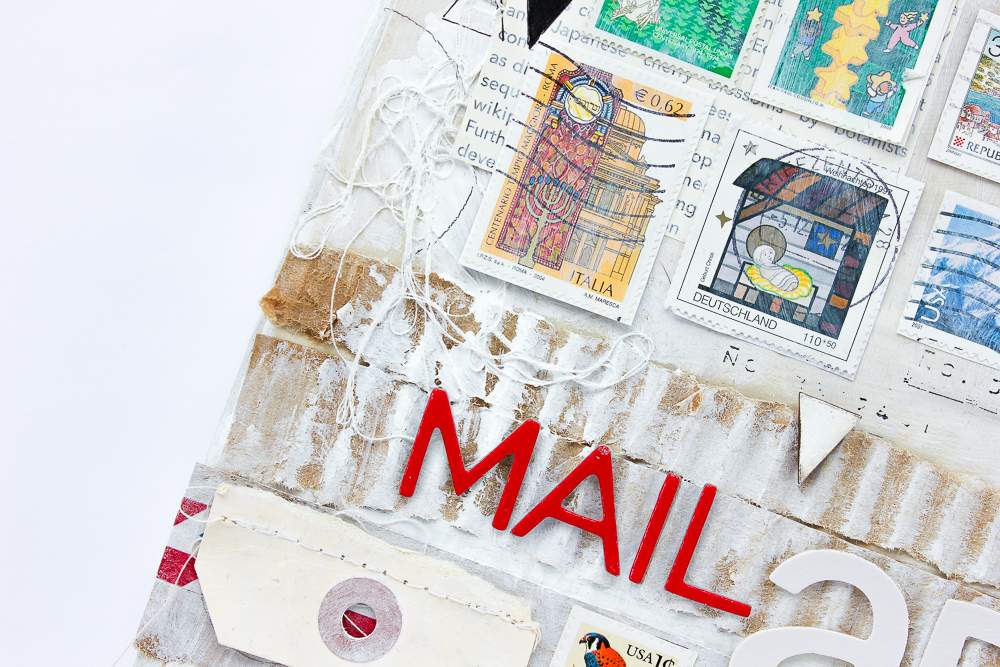Mixed Media Leinwand Mail Art - Janna Werner