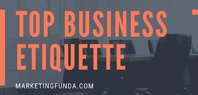 Top business etiquette meeting etiquette