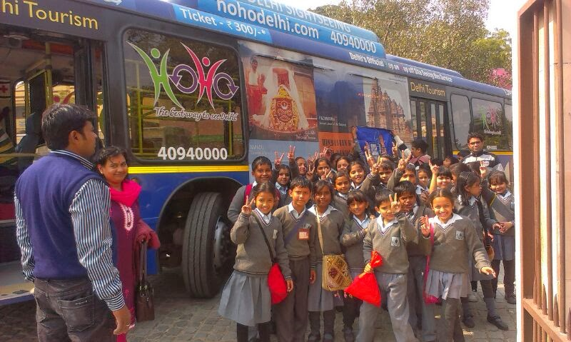 School Tours Delhi HOHO Bus