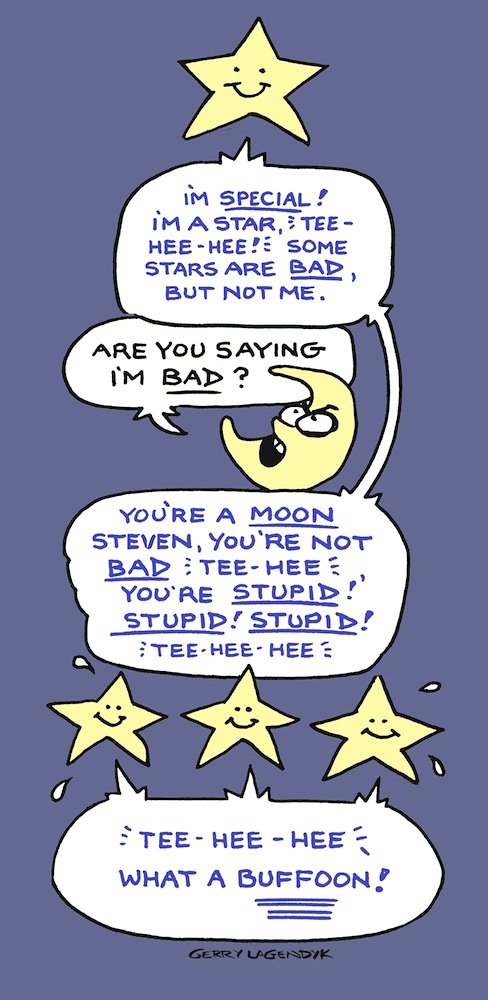 Stars & Moon cartoon