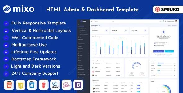 Best Multipurpose HTML Dashboard Template