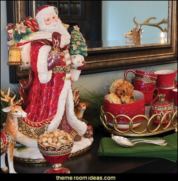 Renaissance Holiday, Santa Figurine  Christmas decorating ideas - Christmas decor - Christmas decorations - Christmas kitchen decor - santa belly pillows - Santa Suit Duvet covers - Christmas bedding - Christmas pillows - Christmas  bedroom decor  - winter decorating ideas - winter wonderland decorating - Christmas Stockings Holiday decor Santa Claus - decorating for Christmas - 3d Christmas cards