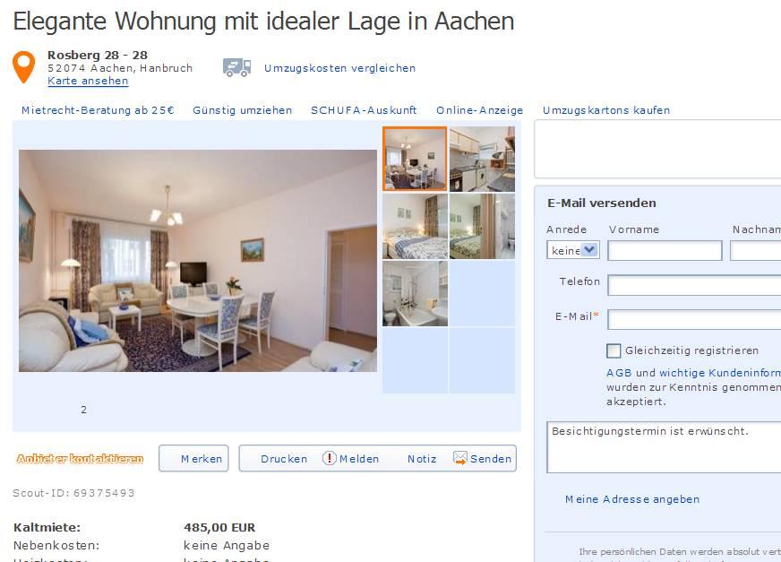 Wohnung Aachen Hanbruch