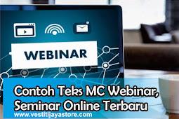 Contoh Teks MC Webinar, Seminar Online Terbaru