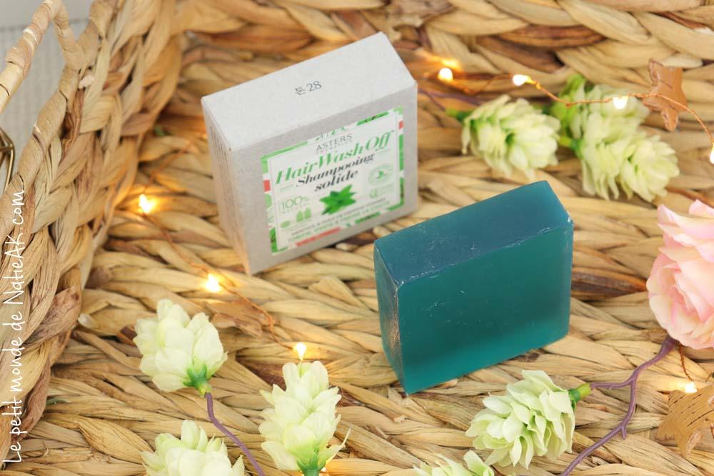 shampoing solide menthol et huile de menthe poivrée Asters cosmetics