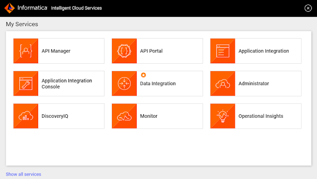 Informatica Intelligent Cloud Services