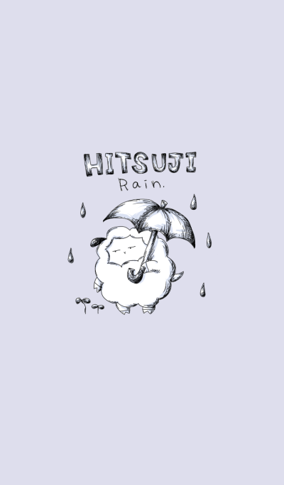 Sheep and rain