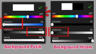 cara mengubah warna background di picsay pro