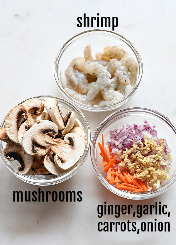 ingredients  o make sesame garlic ramen noodles