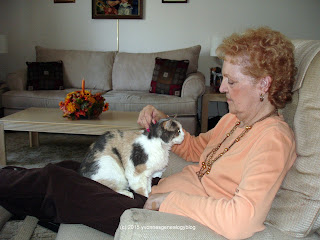 Jacqueline Belair with Patches the cat