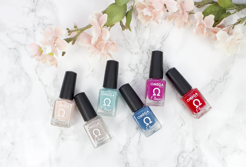 Omega Labs Spring Nail Polish Collection Review Swatches