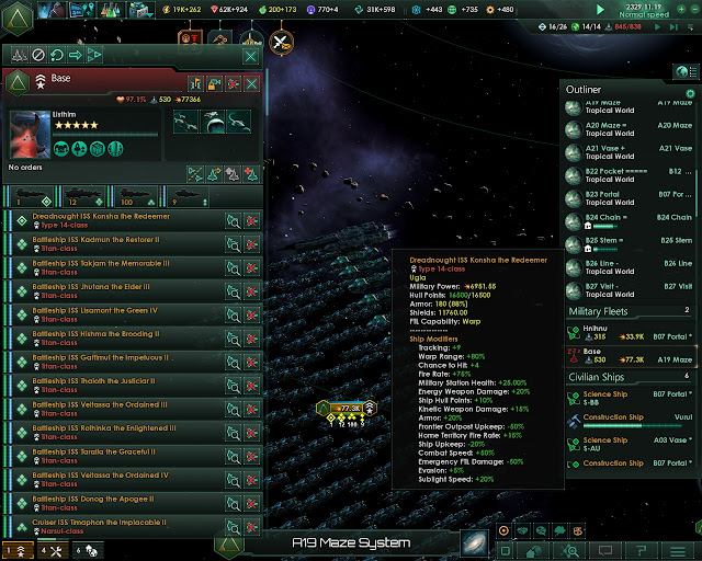 Have a Dreadnought Class Ship | Stellaris Game Screenshot