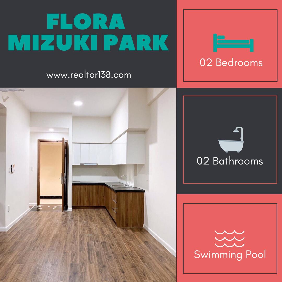 Cho thuê căn hộ Flora Mizuki Park 02 phòng ngủ block MP4