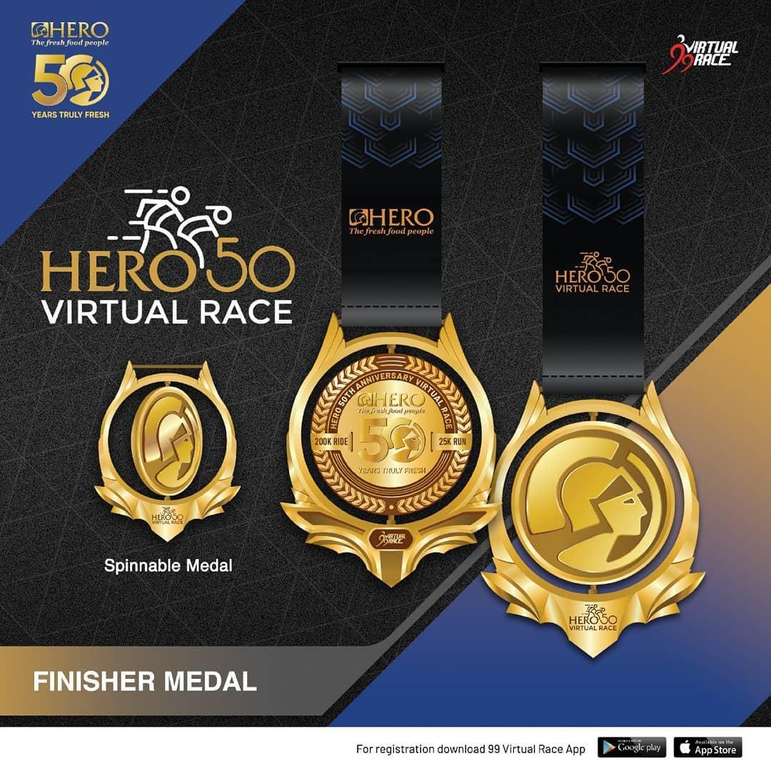 Medal � Hero 50 Virtual Race • 2021