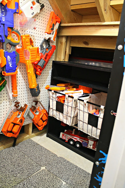 DIY Nerf storage and organization