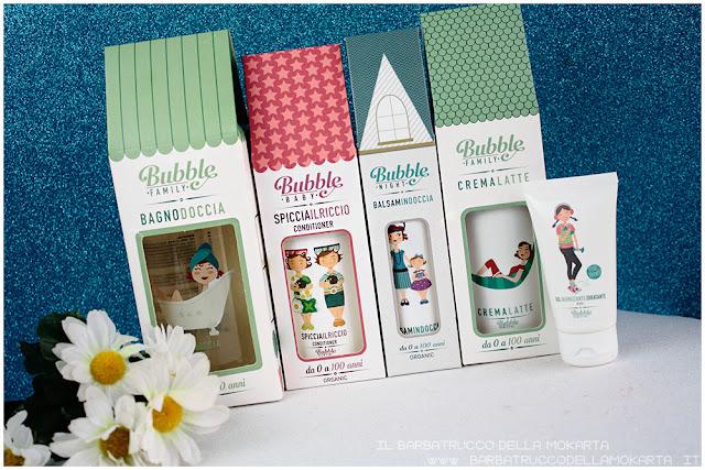 bubble&co vegan bio cosmesi  detergente crema balsamo casette packaging