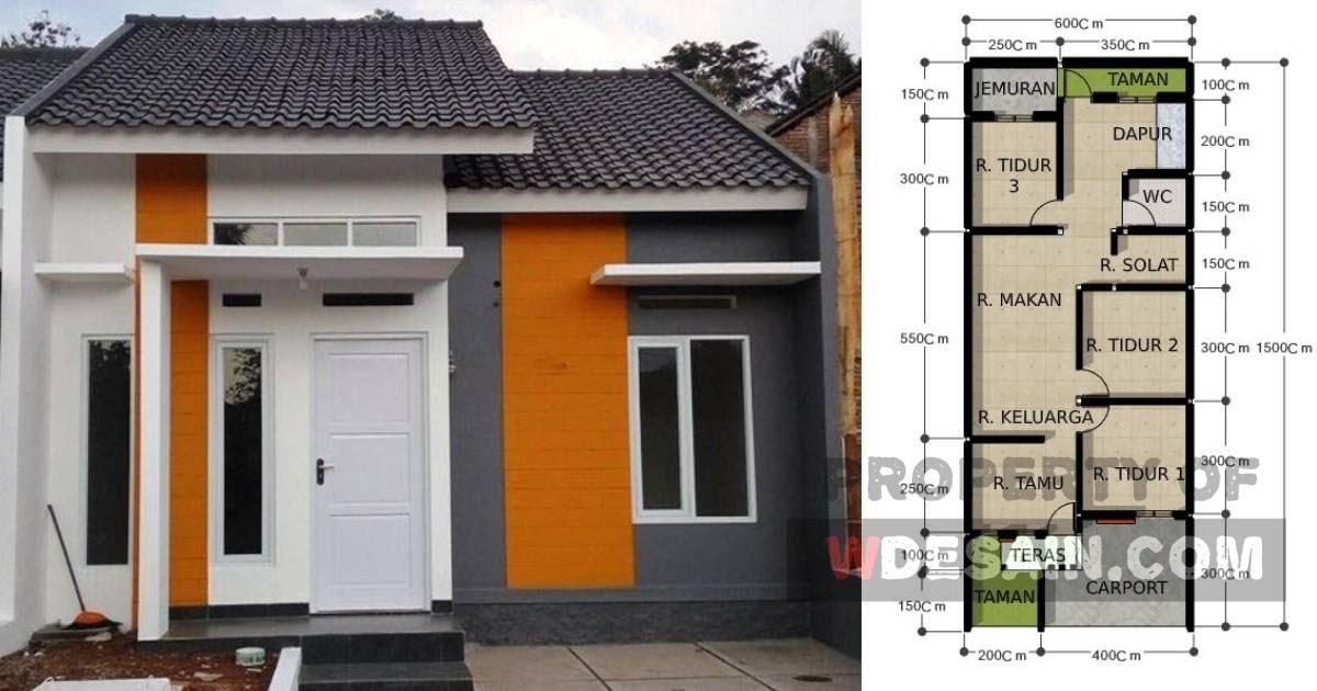 Desain Rumah Lebar 6 Meter Panjang 15 Meter - DESAIN RUMAH ...