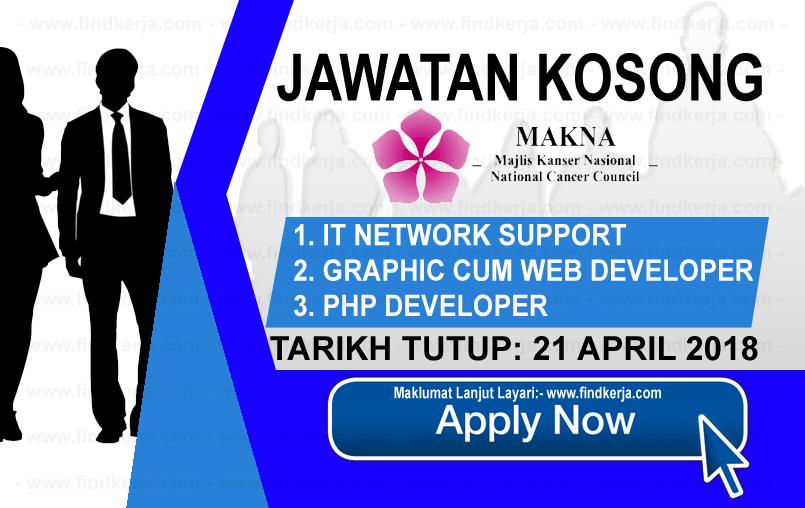 Jawatan Kerja Kosong MAKNA - Majlis Kanser Nasional logo www.findkerja.com april 2018
