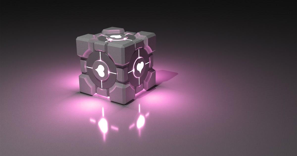 3d Cube Wallpaper Hd Will It Blender 3d Wallpaper Companion Cube