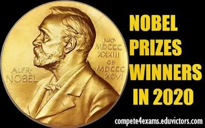 NOBEL PRIZES WINNERS IN 2020 (#nobelprize2020)(#generalawareness)(#compete4exams)(#eduvictors)