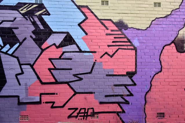 St Peters Street Art   Mural by Zap